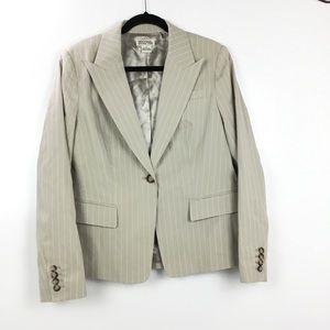 MICHAEL Michael Kors pinstriped khaki blazer EUC